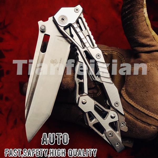 junglesurvivalknife, switchblade, automaticknive, Stainless Steel