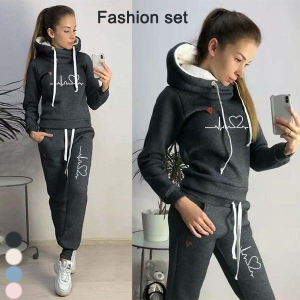 tracksuit for women, Fashion, womens hoodie, pants