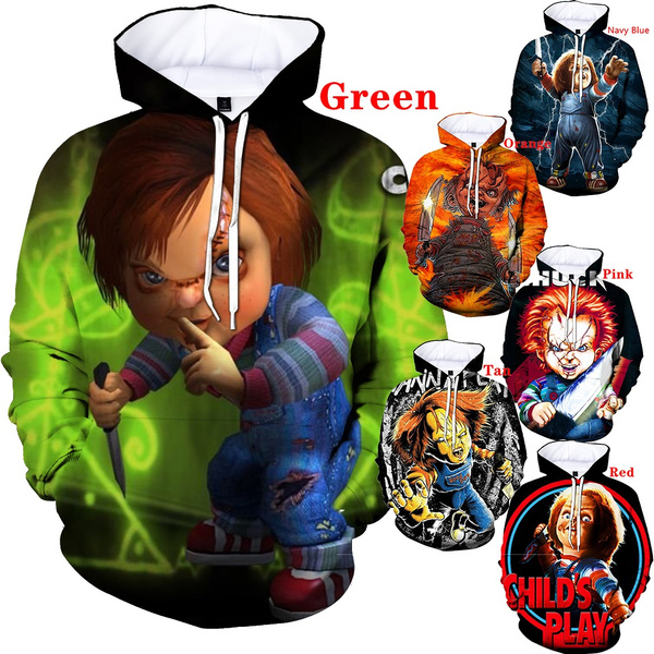 chuckydoll, 3D hoodies, doll, Fashion Hoodies