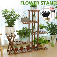 flowerpotstand, flowerrack, flowerpot, Garden
