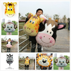monkey, cow, Balloon, Зебра