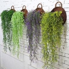 plasticflower, Decor, hangingbasketrattan, artificialplant