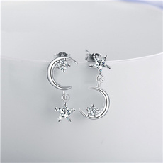 Star, Jewelry, Earring, asymmetric