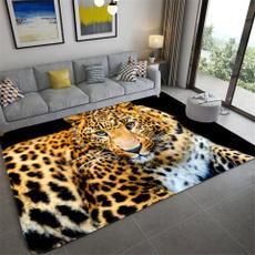 Bathroom, Fashion, Mats, Leopard