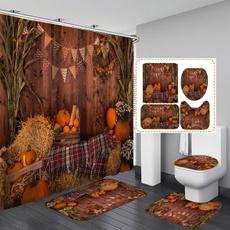 leaves, Bathroom, Bathroom Accessories, waterproofshowercurtain