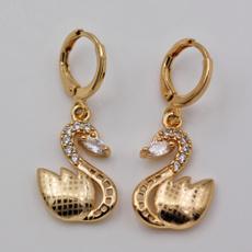 gemstonedangleearring, Women, Fashion Accessory, swan
