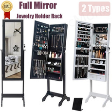 fullmirrorstanding, drawer, Wooden, Jewelry Organizer