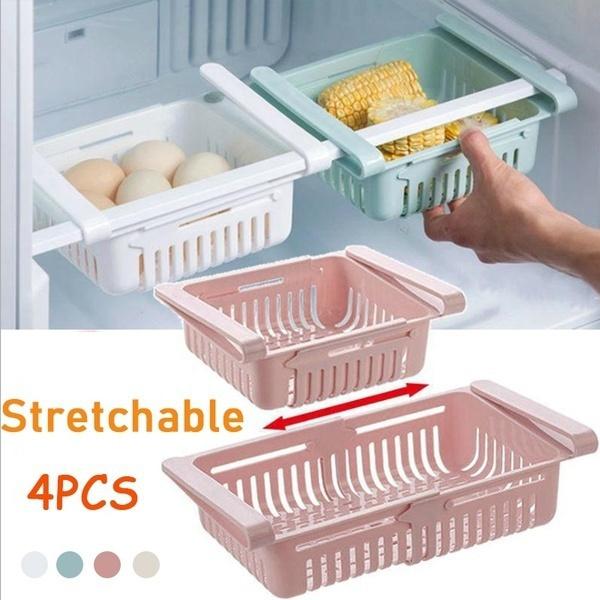 Adjustable, Refrigerator, Storage, pullout