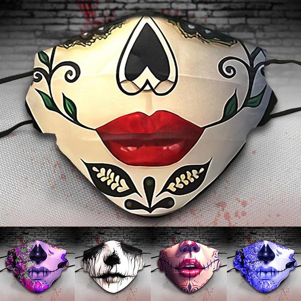 washable, Cosplay, Masks, skull