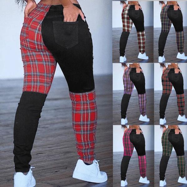 Plus Size, plaid, pantsforwomen, pants