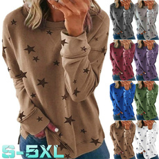 Plus Size, Star, Long Sleeve, Spring