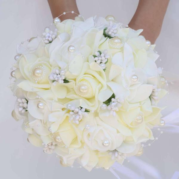 cute, pefoamflower, weddingbouquet, Bouquet