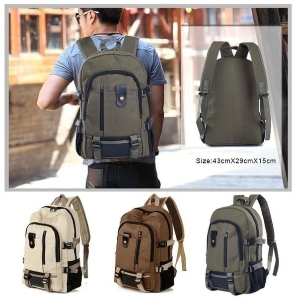 casualbackpack, Capacity, Hiking, canvas backpack