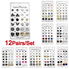 Crystal, Fashion, butterfly earrings, Colorful