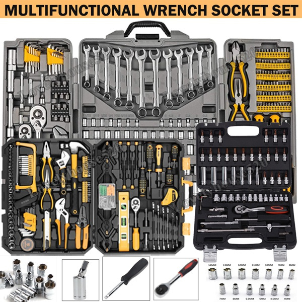 KUIDAMOS Ratchet Wrench Set for Professional Mechanics Bicycle Repair Set,