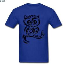 Owl, Fashion, Cotton T Shirt, Simple