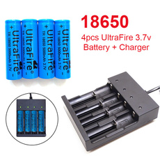 Flashlight, Rechargeable, ultrafire18650battery, charger