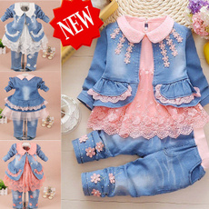 Jeans, girlsclothesset, babygirloutfit, Sleeve