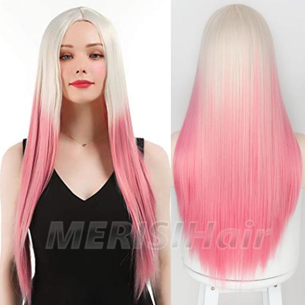 wig, pink, Cosplay, fashion wig