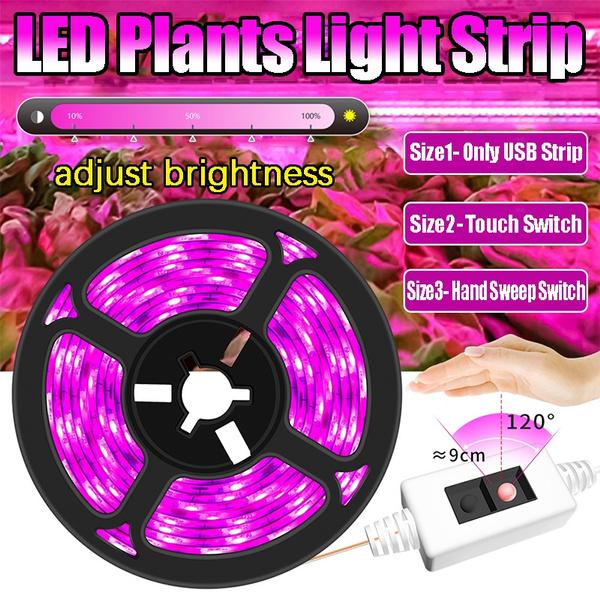 LED Grow Light Full Spectrum USB Grow Light Strip Seed Plants Flowers Greenhouse