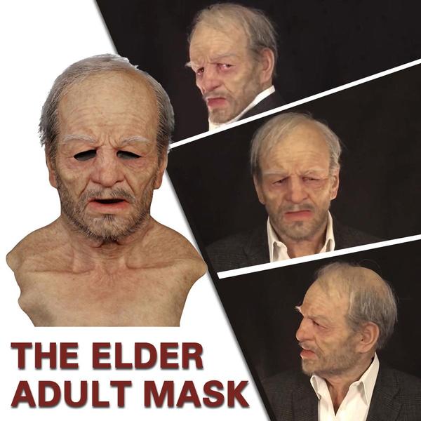 Funny, oldmanmask, Holiday, Halloween Costume