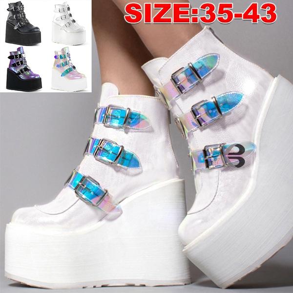 ankle boots, Fashion, highwedgesshoe, Mixed Color