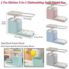 Box, Sponges, Kitchen & Dining, liquidsoapshelfholder