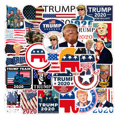 trumpsticker, suitcasesticker, Bicycle, Sports & Outdoors