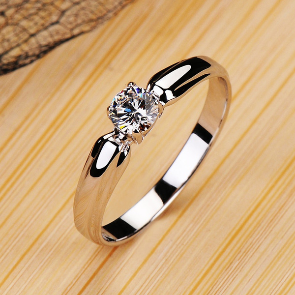 Sterling, Jewelry, Solitaire, Engagement Ring