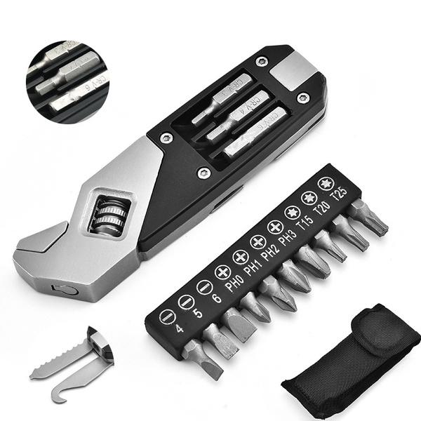 Steel, Pocket, multifunctionwrench, chiaviinglesi