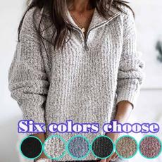 zippersweater, Plus Size, turtleneck, Long Sleeve