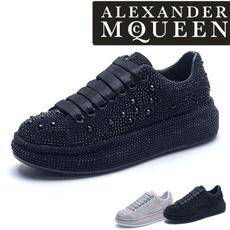 Sneakers, DIAMOND, leather, Rhinestone