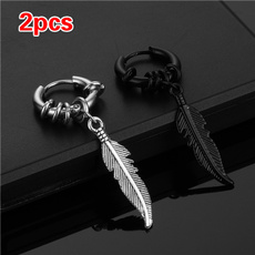 Hip-hop Style, Steel, Hoop Earring, Jewelry