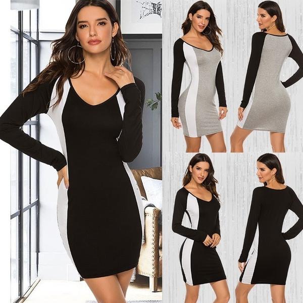 slim dress, Fashion, short dress, ladies dress