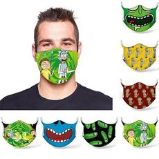 washable, Cosplay, mouthmask, rickandmortymask