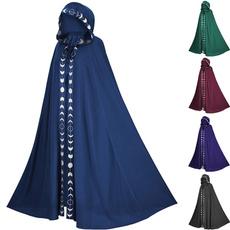 capecoat, hooded, moonpattern, Medieval