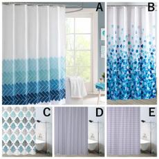 Blues, Bathroom, showercutainsset, bathroomdecor