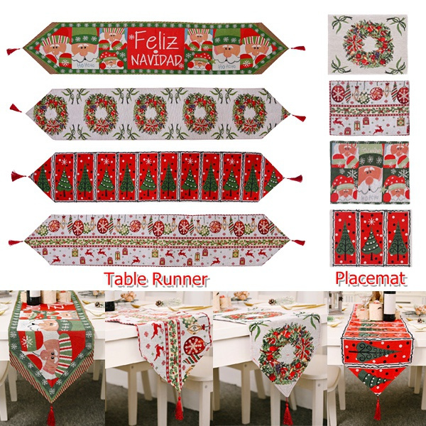 xmasdecor, tableflag, Christmas, tablewaremat