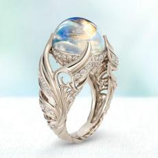 Sterling, DIAMOND, wedding ring, Engagement Ring