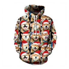 Plus Size, Christmas, Long Sleeve, Women Hoodie