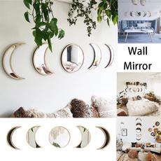 moonmirror, bedroomdecor, wallmirror, Wooden
