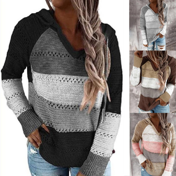 Plus Size, hooded sweater, Sleeve, Fashion Sweater