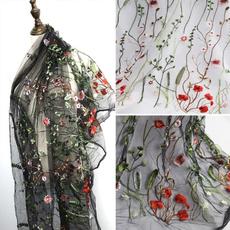 Flowers, Lace, gard, Grass