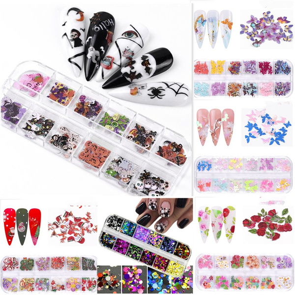 manicuredecor, butterfly, nail stickers, Flowers