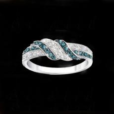 Sterling, Engagement, wedding ring, Elegant