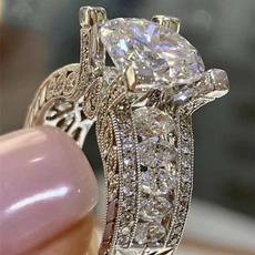 Sterling, DIAMOND, 925 sterling silver, Women Ring
