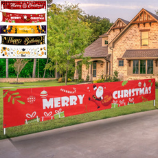decoration, christmascurtain, santaclausflag, partybanner