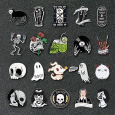 Goth, Skeleton, punk, gothicbrooche
