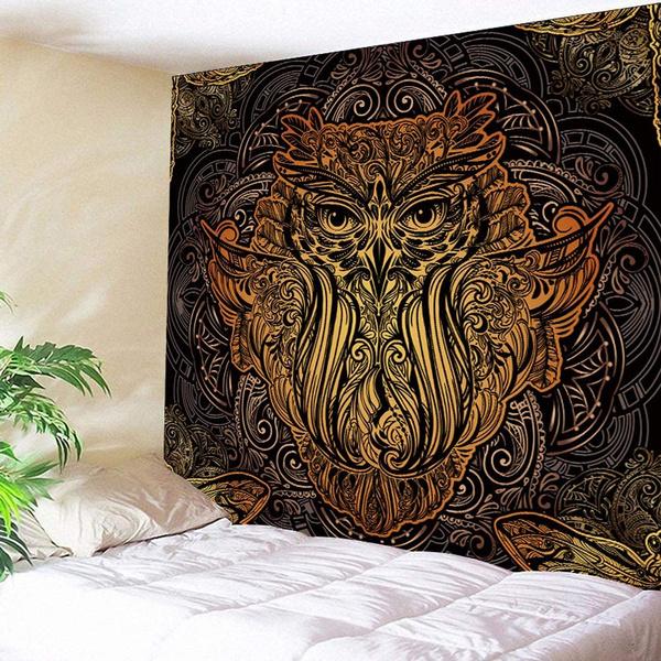 Owl, Polyester, Picnic, mandalatapestry