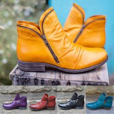 short boots, flatheelboot, oxfordboot, leatherbootswomen